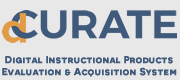 Logo of Digital CURATE: Digital Instructional Products Evaluation & Acquisition System, or dCURATE
